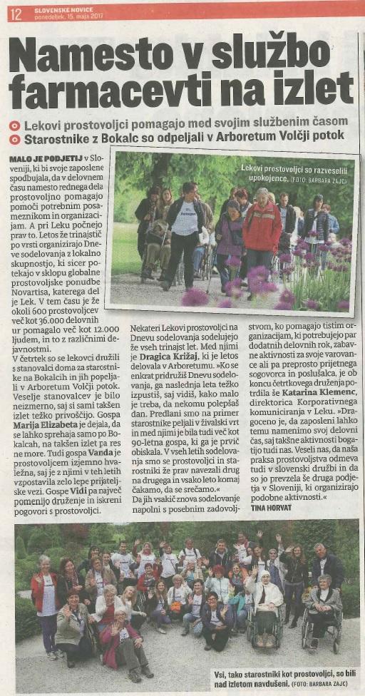 Lek, slovenske novice 15.5.17